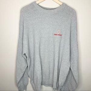 CHAMPION OSU Grey Crew Neck Embroidered Sweater XL